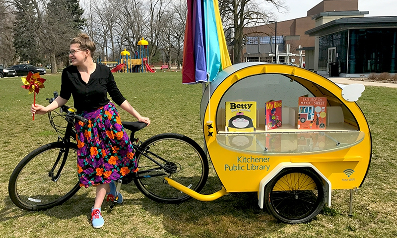 IMAGE: Book Pedaler Bike and Trailer